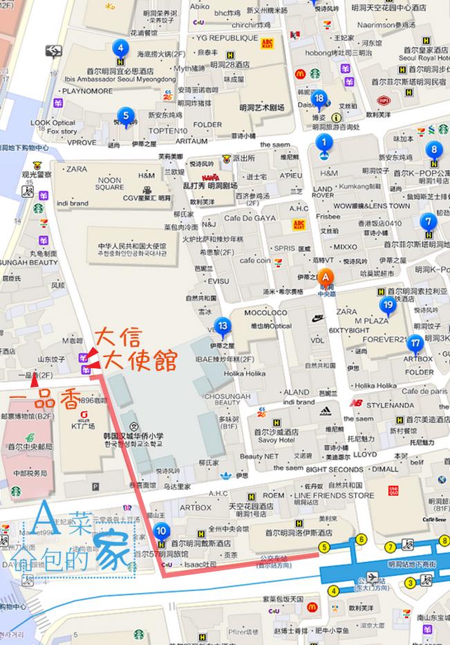 首爾自由行_明洞換錢所MAP